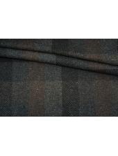 Пальтовая шерсть в серо-коричневую клетку BRS 13102102