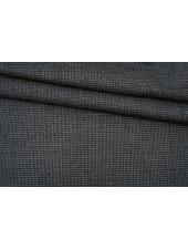 Костюмная шерсть с хлопком тонкая мультицвет пепита BRS 13102116