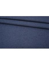 Костюмная рогожка шерсть с хлопком синяя BRS-EE40 13102118