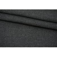 Пальтовая шерсть черно-серая гусиная лапка на дублерине BRS 13102127