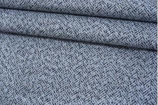 Пальтово-костюмный твид голубой MX-U50 18082138