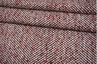 Твид костюмный вишнево-серый MX 18082139