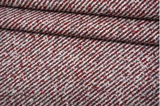 Твид пальтово-костюмный вишнево-серый MX-U60 18082141