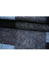 Букле на трикотаже черно-сине-голубые прямоугольники MX-X40 18082143