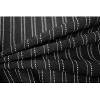 Трикотаж черный в полоску PRT-L3  2111707