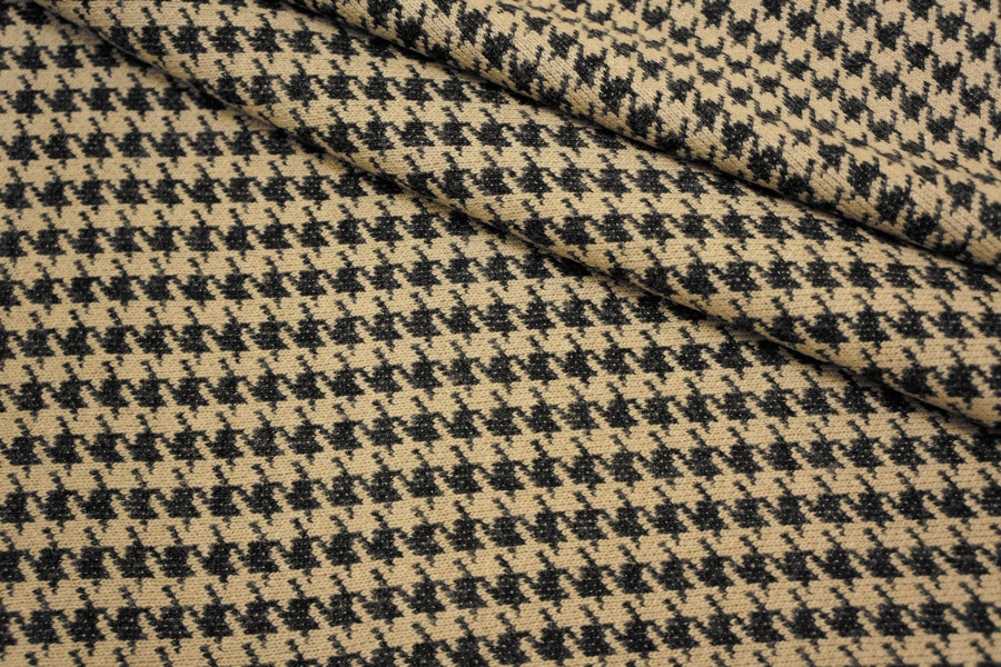 Трикотаж вязаный шерстяной гусиная лапка PRT-L5 2081704