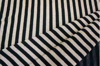 Трикотаж полоска черный-бежевый PRT-R2 3101707