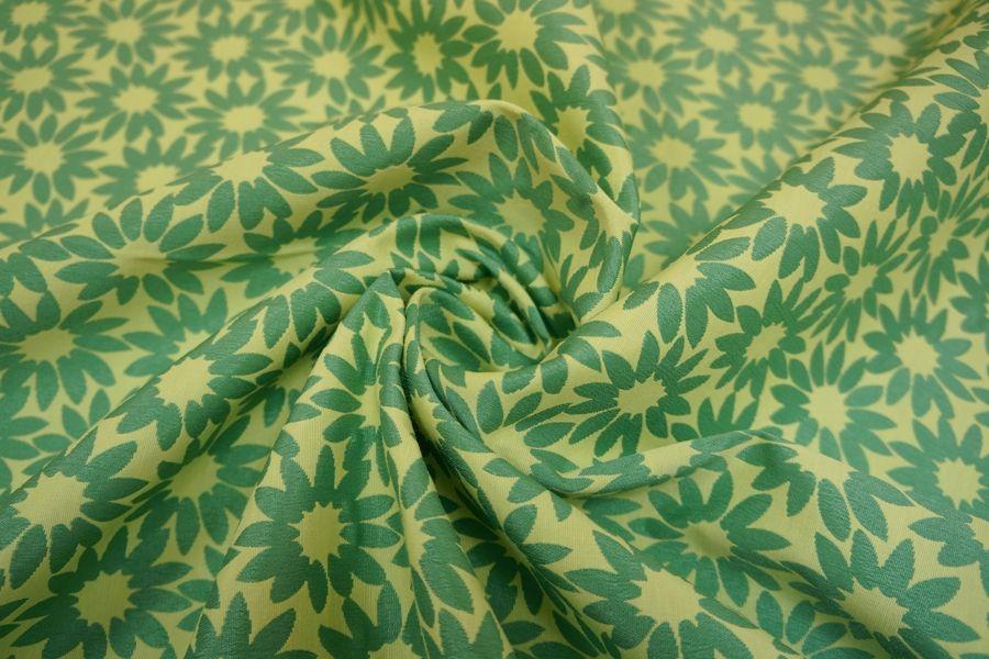 Жаккард хлопковый двусторонний цветы LT-J4 22031602