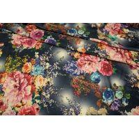 Холодный трикотаж цветы на синем UAE-A6 5121701