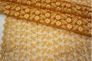 Вышивка на сетке золотистая UAE-C6 5121719