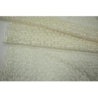 Вышивка на сетке светлое айвори UAE-C6 5121720
