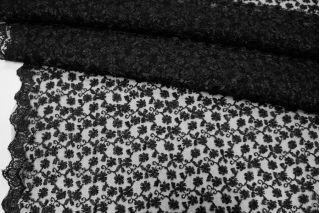 Вышивка на сетке черная UAE-C6 5121723