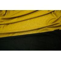 Трикотаж горчичный-черный UAE-F4 5121724