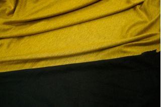 Трикотаж горчичный-черный UAE-E2 5121724