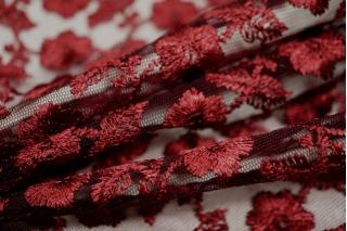 Вышивка на сетке марсала UAE-C6 5121708