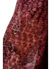 ОТРЕЗ 2,2 М Вышивка на сетке марсала UAE-C6 5121708-1