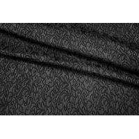Жаккард-стрейч черный UAE1-H3 1121719