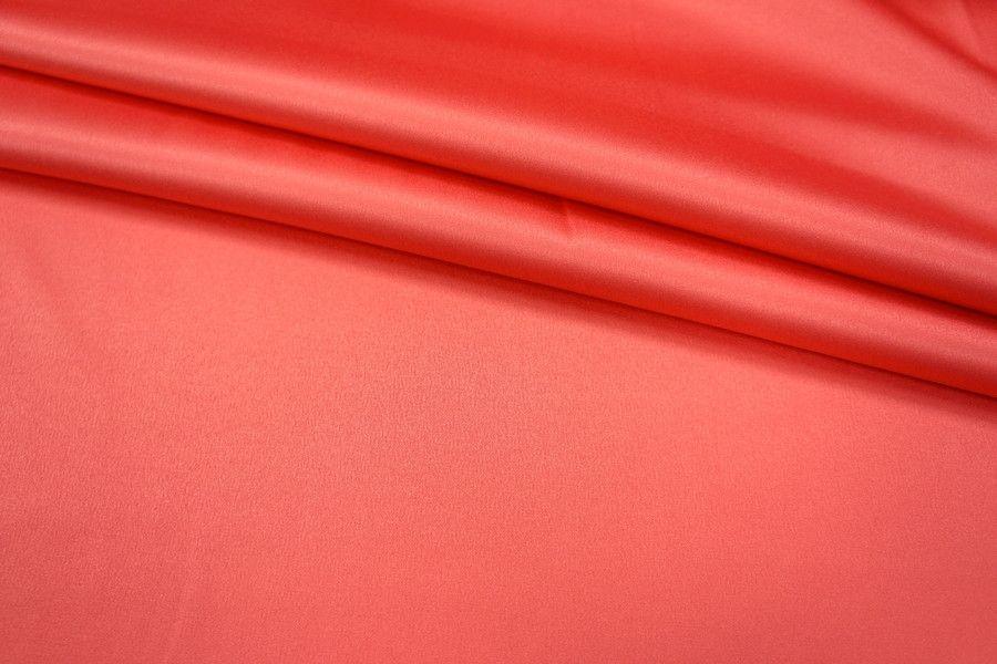 ОТРЕЗ 2,5 М Атлас-стрейч ярко-лососевый UAE 036-I5 1121705-1