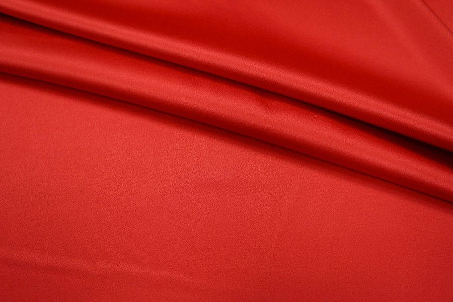 Атлас-стрейч насыщенный красный UAE1-C4 1121701