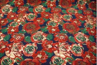 Нарядная парча цветы красные UAE1 F-3 28111701