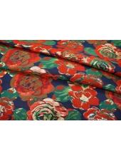 ОТРЕЗ 2,3 М Нарядная парча цветы красные UAE1-H4 28111701-1