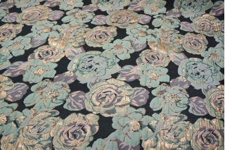 Нарядная парча цветы мятные UAE1 F-3 28111702