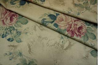 Джинса хлопковая цветы PRT-B4 10071704