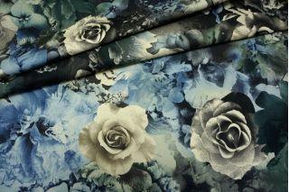 Джинса хлопковая цветы PRT 10071705