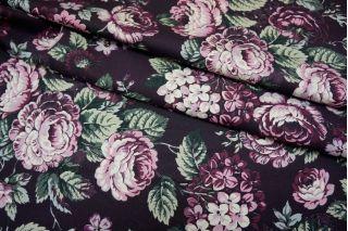 Джинса хлопковая цветы PRT 10071706