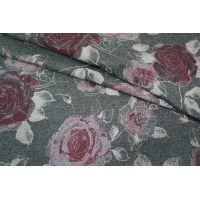 Костюмно-плательная шерсть в розах PRT 11091707