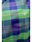 Рубашечная ткань зеленая клетка PRT 2031755