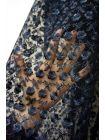 Вышивка на сетке темно-синяя UAE-C6 13121701