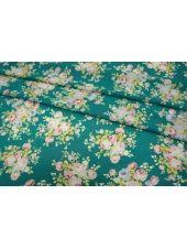 ОТРЕЗ 0.55 М Шифон-стрейч цветы UAE-H5 15011802-1