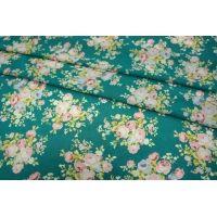 ОТРЕЗ 2,2 М Шифон-стрейч цветы UAE-E2 15011802-1