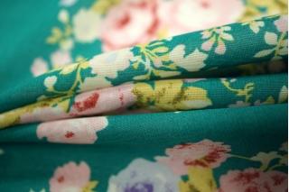 Шифон-стрейч цветы UAE-H5 15011802