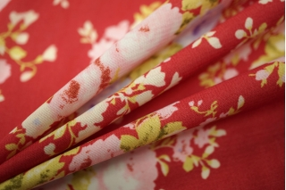 Шифон-стрейч цветы UAE-H5 15011803