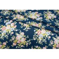 Шифон-стрейч цветы UAE-E2 15011806