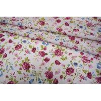 ОТРЕЗ 2,6 М Шифон-стрейч цветы UAE-E2 15011807-1