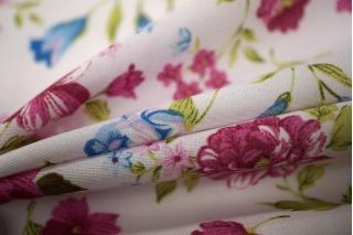 Шифон-стрейч цветы UAE-E2 15011807