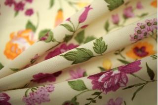 Шифон-стрейч цветы UAE-E2 15011813
