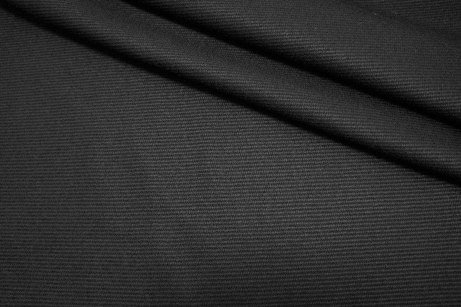 Плотная костюмная шерсть черная PRT-G7 14081707