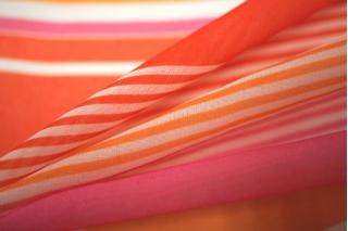 Шифон полоска оранжевая UAE-H3 17011815