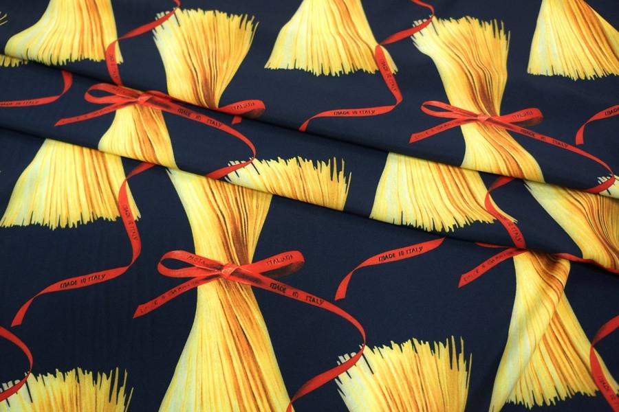 Плательный би-стрейч макароны на синем UAE-E3 17011818