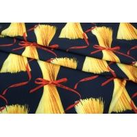 Плательный би-стрейч макароны на синем UAE-H4 17011818