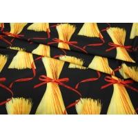 Плательный би-стрейч макароны на черном UAE-H4 17011819