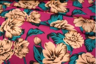 Шифон-стрейч цветы UAE-H5 17011803