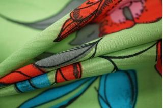 Шифон-стрейч цветы UAE-E2 17011804