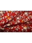 Хлопок поплин мелкие цветы на красном BLP-B3 19041712