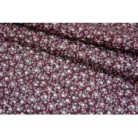 Хлопок поплин мелкие цветы на баклажановом BLP-B3 19041713