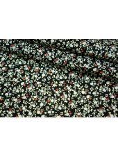 ОТРЕЗ 2,5 М Хлопок поплин мелкие цветы на черном BLP1-B3 19041719-1